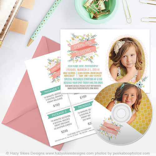 Spring Mini Session Marketing Templates for Photographers Photoshop www.hazyskiesdesigns.com