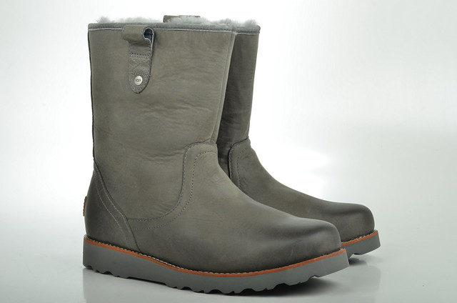 ugg australia stoneman boot lammfell gef ttert 1001594 kalbsleder grau metal 1 flickr. Black Bedroom Furniture Sets. Home Design Ideas