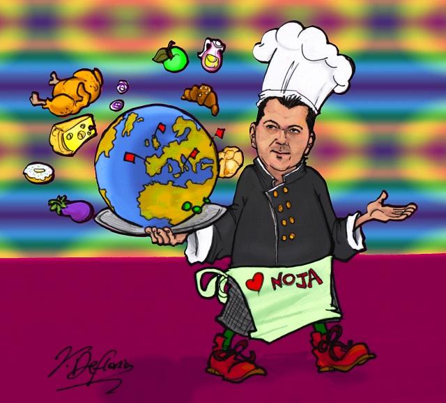Noicattaro. Vignetta chef Giuseppe Lioce intero
