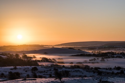 light shadow sky sun white mist mountain snow colour tree nature fog wales sunrise landscape golden nikon hill d750 bryn clwyd alyn