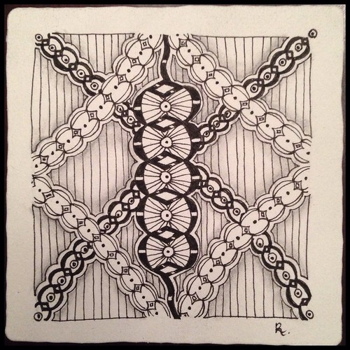 Zentangle 83, for The Diva's Weekly Challenge #199