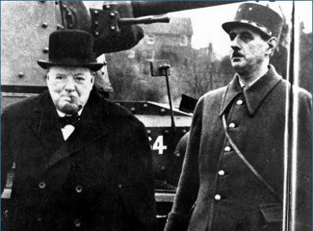 Winston Churchill y Charles De Gaulle