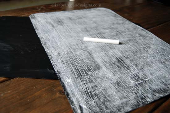 Chalkboard Place setting DIY