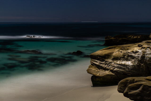 Windansea Beach at Night, 10315 © Michael Klayman 2014- 02