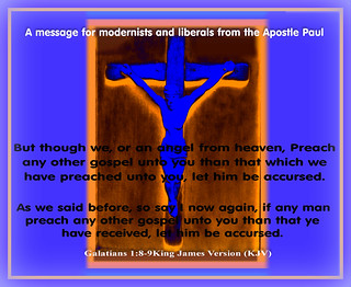 A warning about modernists, liberals, false prophets, false religions, sects and cults from the Apostle Paul.