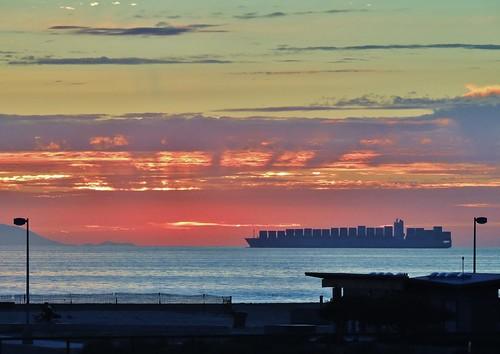 sunset clouds nikon ships pacificocean sunrays artisticphotography bolsachica orangecountyca bolsachicawetlands huntingtonbeachca bolsachicaecologicalreserve californiawetlands p510 coastalwetlands walkingbolsachica janelazarz janeelizabethlazarz pacificcoastalwetlands