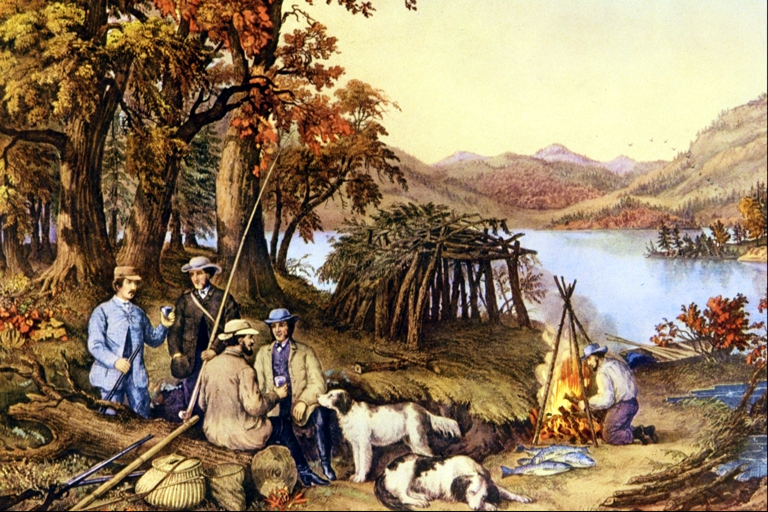 Hunting, Fishing and Forest Scenes