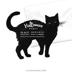 A fun Halloween design I've been working on this morning #halloween #halloween2016 #party #blackcat #invitations