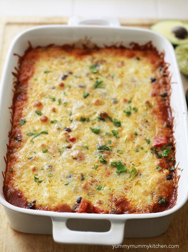 quinoa casserole with butternut squash
