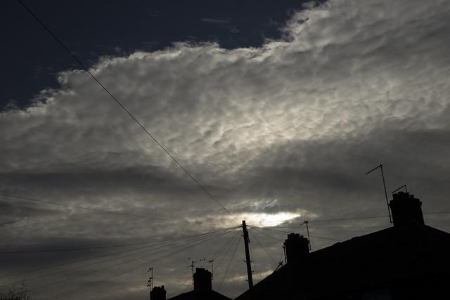 Old Fletton cloudy sky