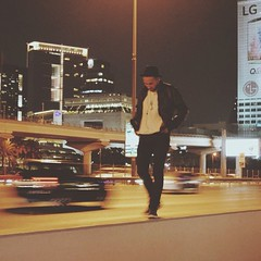 Untitled #concept #photography #iphoneography #street #road #fashion #art #black #tophat #leather #motion #blur