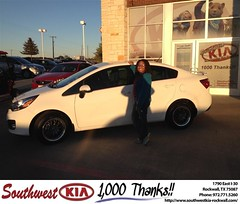 #HappyAnniversary to Vanessa Starr on your 2013 #Kia #Rio from Kathy Parks at Southwest KIA Rockwall!