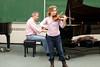 Masha Lakisova in rehearsal