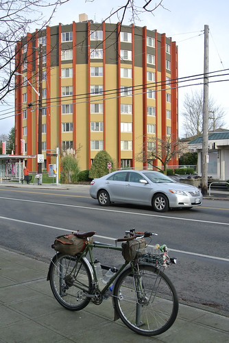 Winter Solstice Ride 2014 - Atlantis in front of West Seattle's most distinctive building