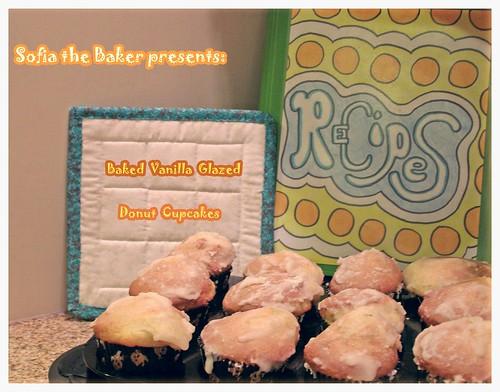 ~ baked vanilla glazed donut cupcakes...