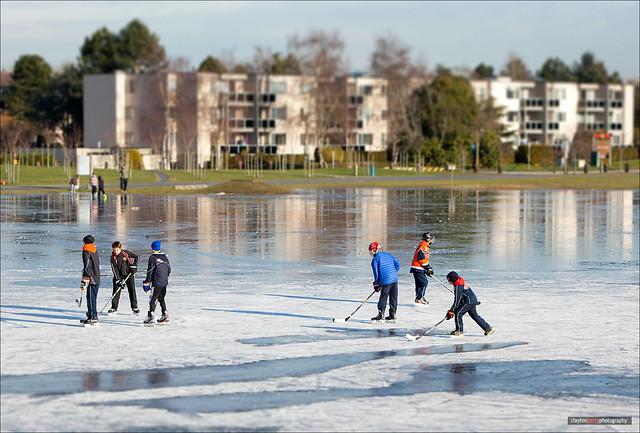 Pond Hockey At Garry Point