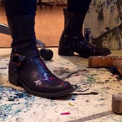 my painterly boots getting work in.