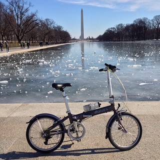Foldy bike don't care about ice #bikedc