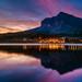 Many Glacier Hotel Sunrise by Tom.Bricker