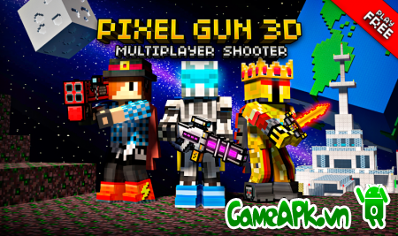 Pixel Gun 3D v9.0.6 Hack Free Shopping cho Android