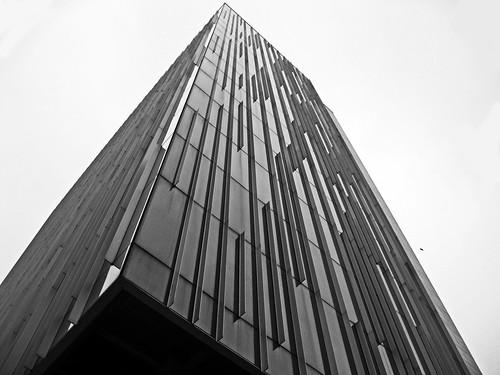 city sky blackandwhite building tower architecture tall bucharest bnw cathedralplaza