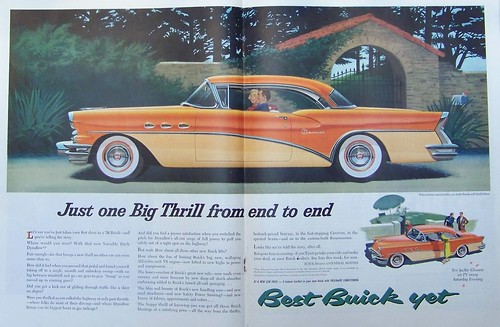 Buick ad, 1956 model, Saturday Evening Post, 7/7/1956, p. 44