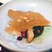 Sixth course: Cured mackerel, tarragon vinaigrette, purple daikon