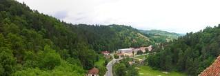Brasov Romania pano from castle 1A