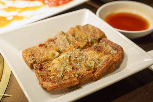 吃肉前來先來個野菜燒餅吧~