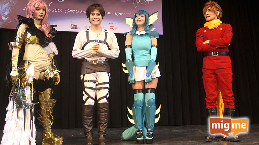 Our winners on stage with famous Filipino cosplayer, Liui Aquino