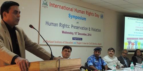 Dr Mohibul Haq addressing the World Human Rights day