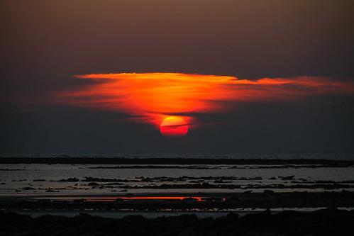 sunset red sea sky sun seascape art nature canon landscape boat raw tamron bangladesh waterscape bayofbengal