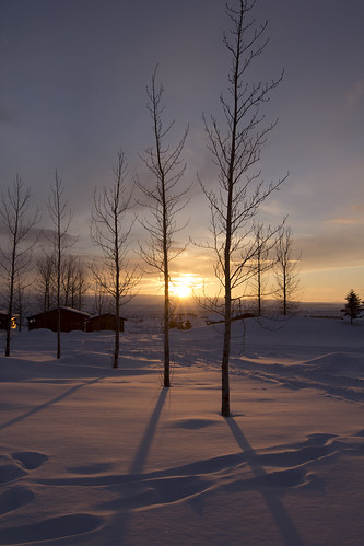 light sun snow sunrise golden iceland