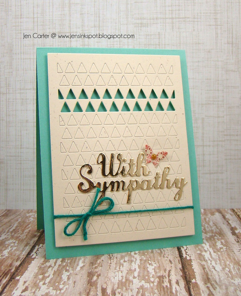 Jen Carter With Sympathy Triangles Frantic Stamper Blue