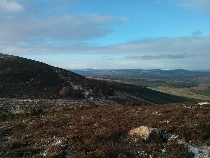 Northwest from Pitfichie Hill