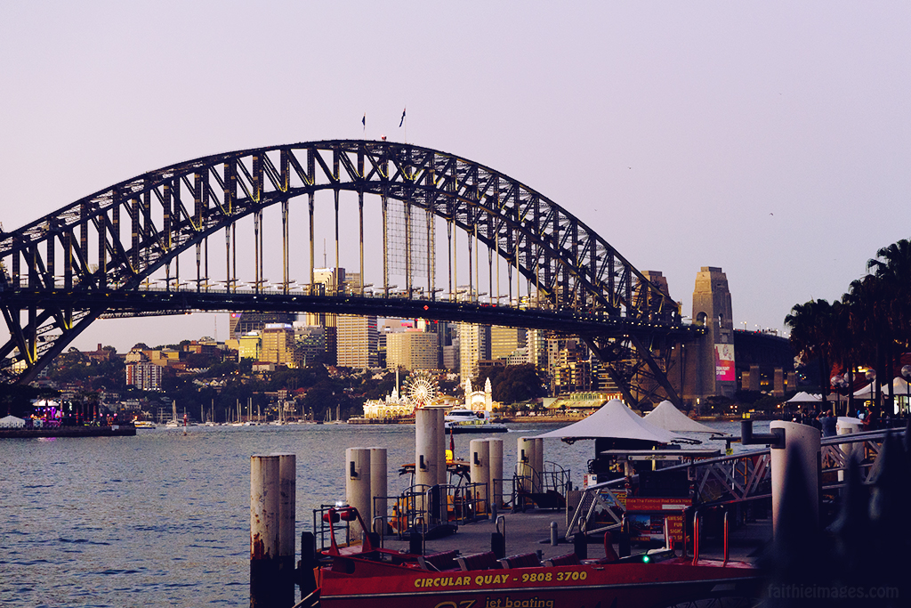 Harbour Bridge at dusk