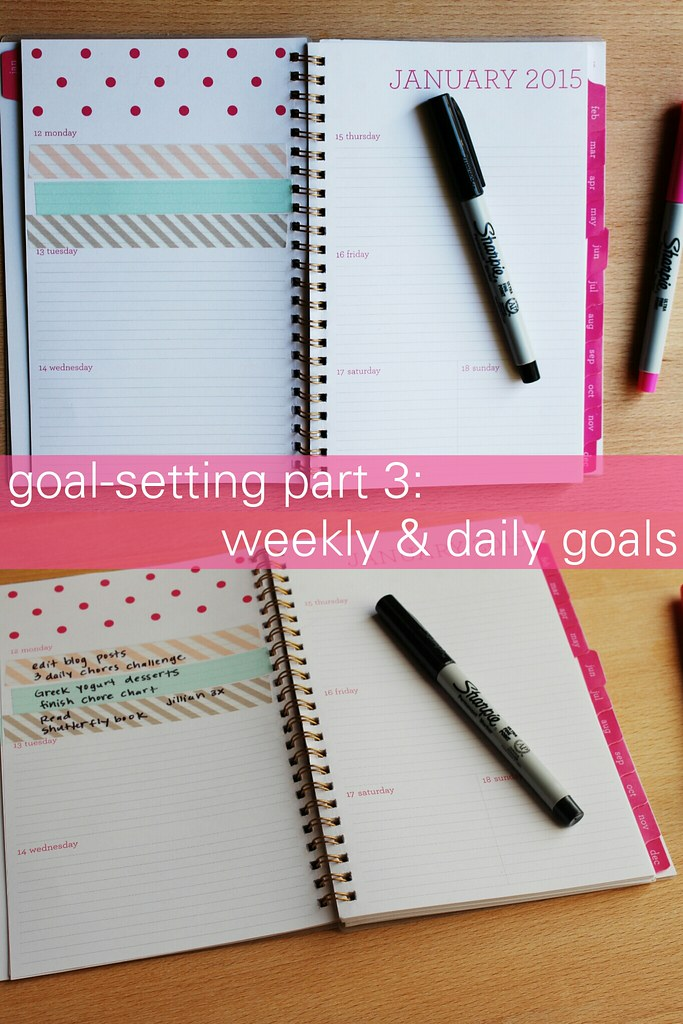 goal- setting part 3: weekly & daily goals