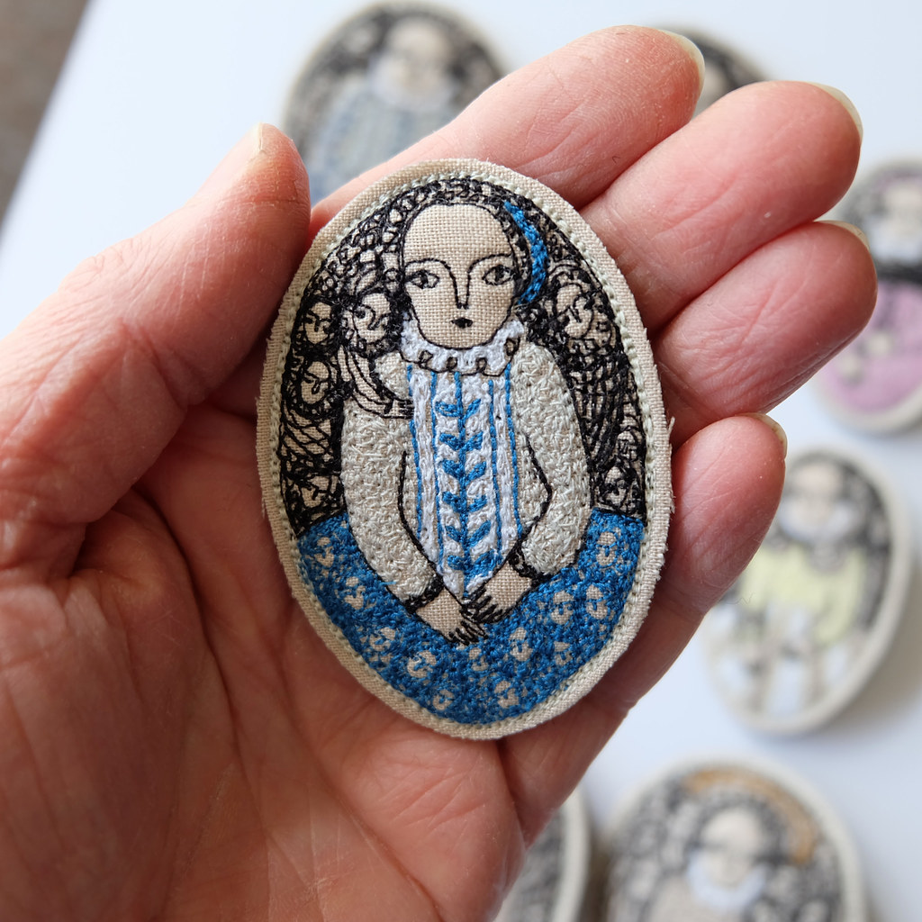 one of the portrait brooches I sent to Atelier 51, Brighton