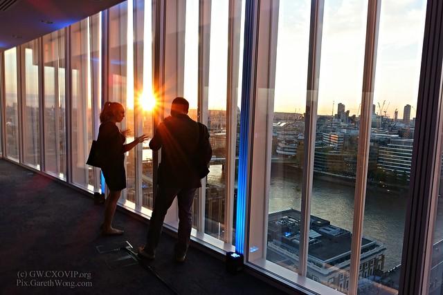 sunset networking at News International, London Bridge, UK from RAW _DSC9539