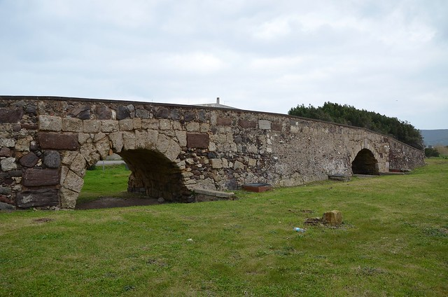 Roman bridge, restructured and restored in medieval times, Sant'Antioco, Sardinia