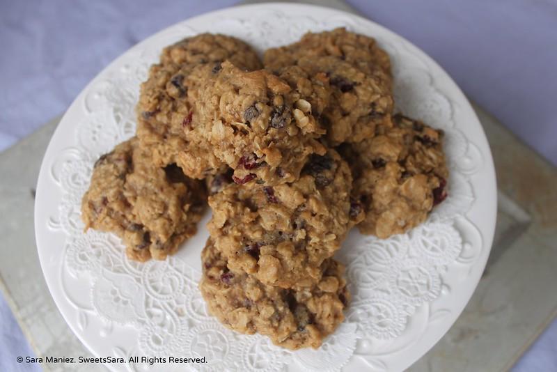 Oatmeal Raisin Cranberry Cookies-IMG_5493