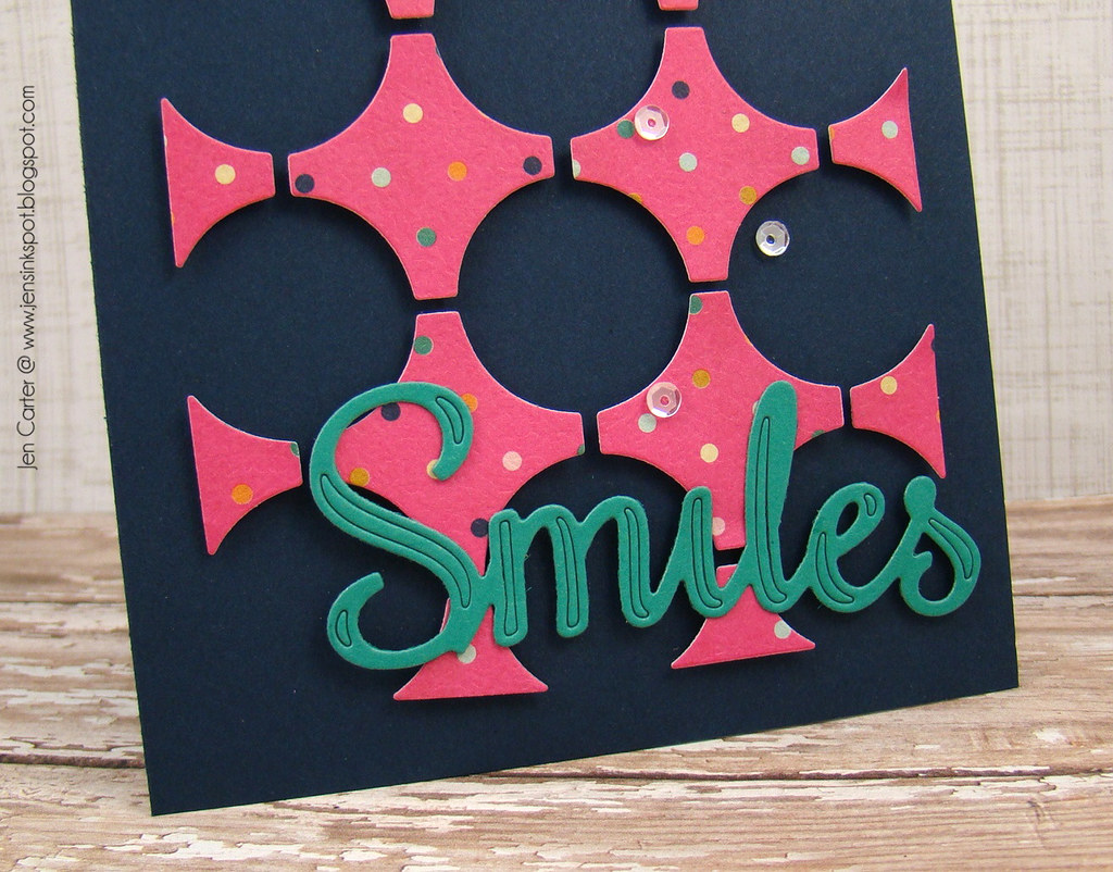 Jen Carter Frantic Stamper Circle Smiles Closeup