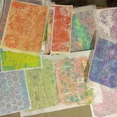 Some of my favorites from today's #gelliprinting session! #gelli #gelliplate #gelliprinting #acrylicpaint #backgrounds