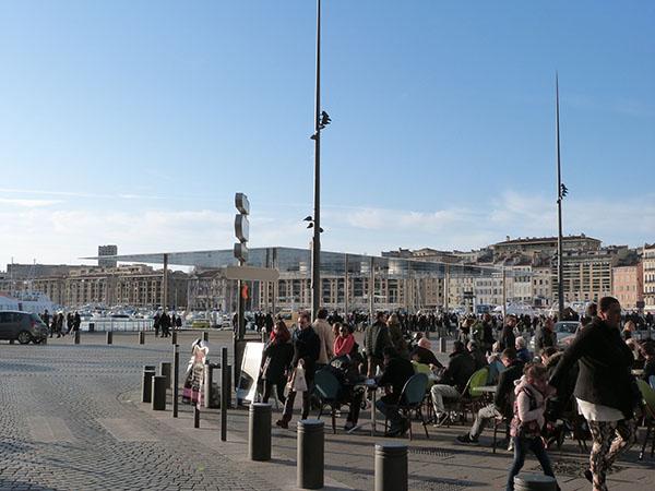 arrrivée sur le Vieux Port