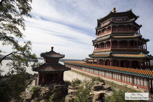 Tower of Buddhist Incense (Foxiangge), on the right, Summer Palace, Beijing, China