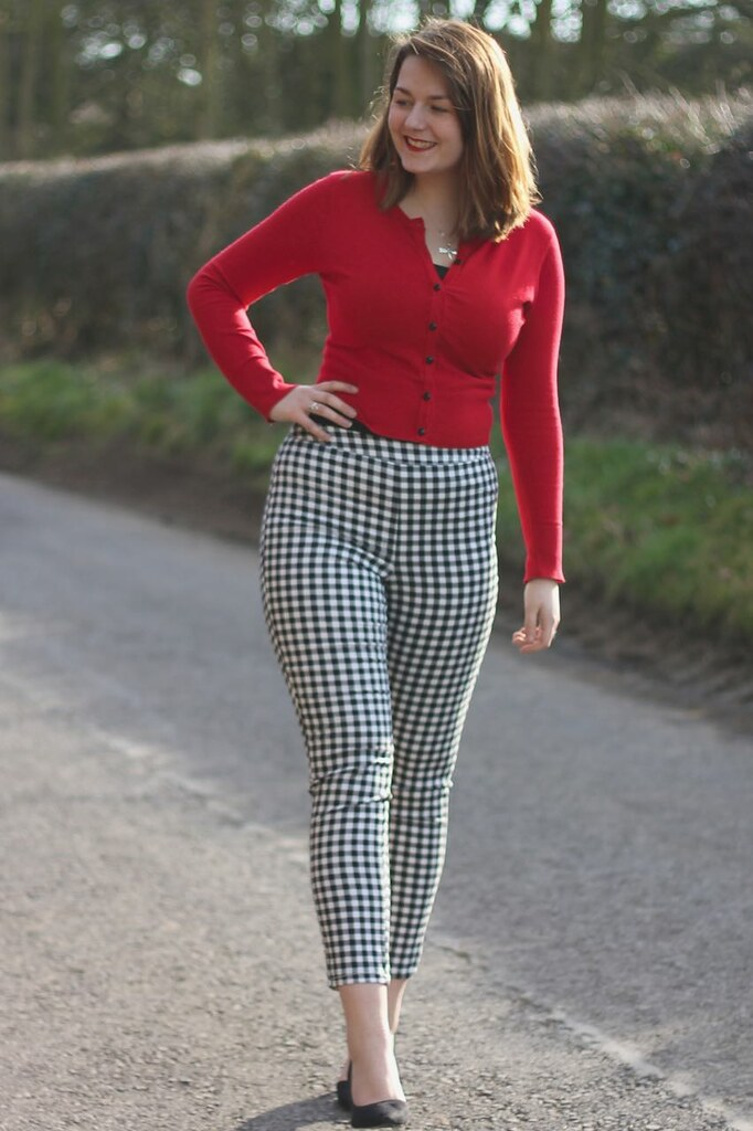 Dorothy Perkins checked trousers outfit