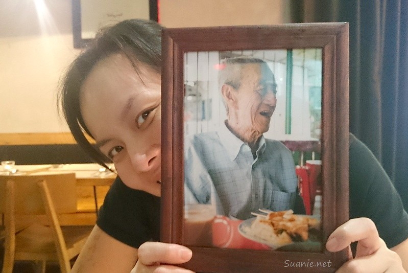 Fireangel with a photo of Suanie's grandfather