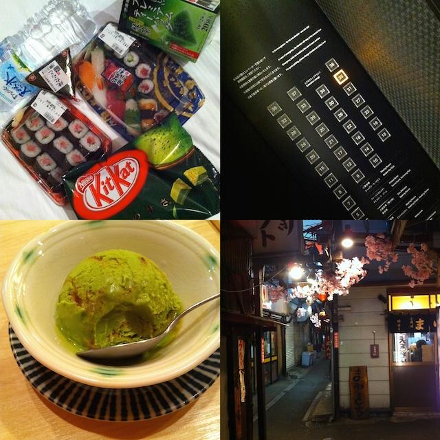 Grüner Tee Eis KitKat Shinjuku Straßen