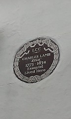 Photo of Charles Lamb brown plaque