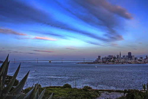 sanfrancisco california city blue sunset sky usa skyline clouds cityscape dusk bayarea sanfran alcatraz citybythebay